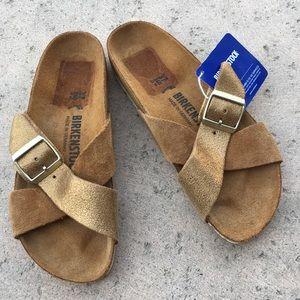 NWT Birkenstock Siena Exquisite Sandal Mink 37
